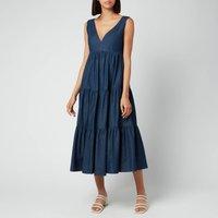 Kate Spade New York Women's Chambray Vineyard Midi Dress - Indigo - Uk 6 Njm00258 429 General Clothing, Blue