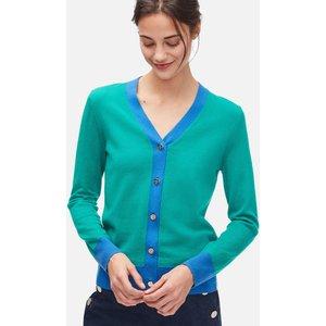 Kate Spade New York Women's Colourblock V-neck Cardigan - Beryl Green - M Njm00211 326 Womens Clothing, Green