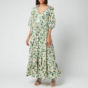 Kate Spade New York Women's Kate Daisy Bodega Midi Dress - Courtyard - Uk 8 Njm00244 305 General Clothing, Green