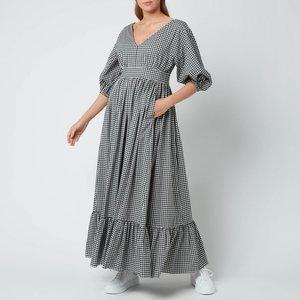 Kate Spade New York Women's Mini Gingham Bodega Midi Dress - Black - Uk 8 Njm00247 001 General Clothing, Black