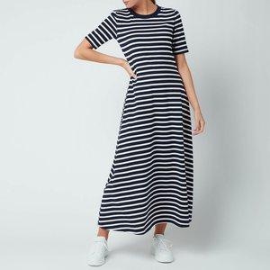 Kate Spade New York Women's Striped Midi Dress - Rich Navy - S Njm00262 937 General Clothing, Blue
