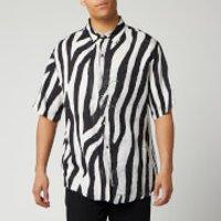 Ksubi Men's Animal Shirt - Black - S 5000004649 Mens Tops, Black/White
