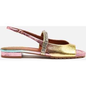 Kurt Geiger London Women's Princeley Leather Sandals - Pink Comb - Uk 4 7455757109 General Clothing, Multi