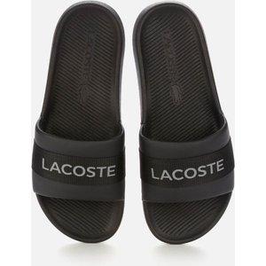Lacoste Men's Croco 0721 1 Slide Sandals - Black/black - Uk 9 741cma0007 02h Mens Footwear, Black