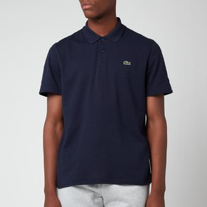 Lacoste Men's Tape Trim Polo Shirt - Navy Blue - 4/m Yh9042 00 166 General Clothing, Blue