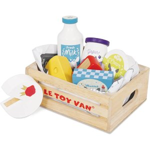 Le Toy Van Honeybake Cheese And Dairy Crate Set Tv185 Toys, Multi