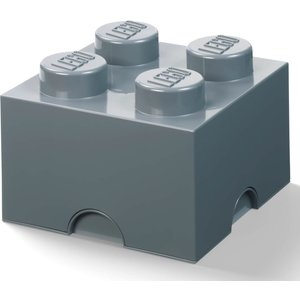 Lego Storage Brick 4 - Dark Grey 40031754 Toys