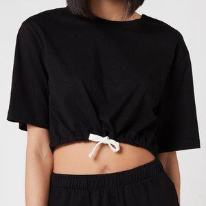 Les Girls Les Boys Women's Jersey Apparel Crop Top - Black - S St108 T0002 Blk Womens Tops, Black