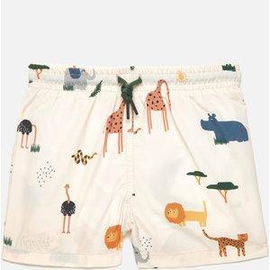 Liewood Boys' Duke Board Shorts - Safari Sandy Mix -  2- 3 Years Lw14118 Childrens Clothing, Multi