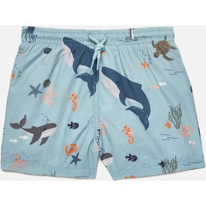Liewood Boys' Duke Board Shorts - Sea Creature Mix - 3-9 Months Lw14118 Childrens Clothing, Blue