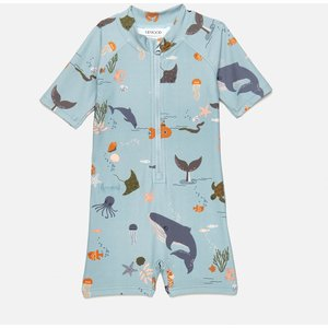 Liewood Boys' Max Swim Jumpsuit - Sea Creature Mix - 1-1.5 Years Lw14126 Childrens Clothing, Blue