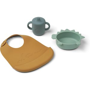 Liewood Connor Baby Dining Set - Dino Peppermint Multi Mix - One Size Lw14320 Gifts