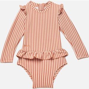 Liewood Girls' Sille Swim Jumpsuit Seersucker - Tuscany Rose/sandy -  9-12 Months Lw14138 Childrens Clothing, Pink