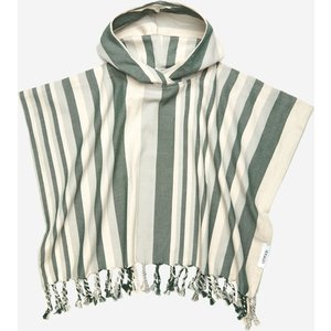 Liewood Roomie Poncho - Arden Green/sandy/dove Blue - 7-8 Years Lw13088 Childrens Clothing, Green