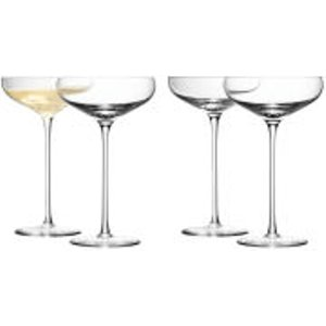 Lsa Champagne Saucer 300ml Clear (set Of 4) G730 11 991 Kitchen, Clear