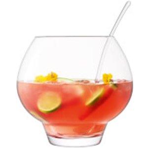 Lsa Rum Punchbowl & Ladle Clear - 27cm G1568 24 301 Kitchen, Clear