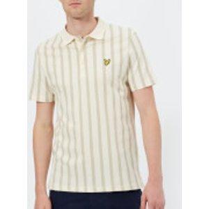 Lyle & Scott Men's Deckchair Stripe Polo Shirt - Seashell White - Xl - White Sp813v Z269 Mens Tops, White