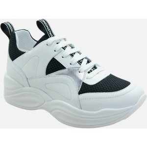 Mario Valentino Shoes Women's Leather/suede Chunky Running Style Trainers - Black/white -  91190753 550 General Clothing, White