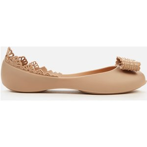 Melissa Women's Queen Frill Ballet Flats - Sand - Uk 3 33376 53298 Mens Footwear, Beige