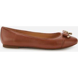 Michael Michael Kors Women's Alice Leather Ballet Flats - Luggage - Uk 6/us 9 40t7alfp2l230 Womens Footwear, Tan