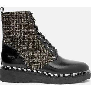 Michael Michael Kors Women's Haskell Lace Up Boots - Black/natural - Uk 3 40r1hsfe7l010 Womens Footwear, Black