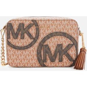 Michael Michael Kors Women's Jet Set Camera Bag - Luggage/multi 32t1gj6m2u299 Clothing Accessories, Tan