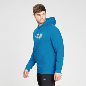 Mp Men's Chalk Graphic Hoodie - Aqua - Xs Mpm734aqua Mens Sportswear, Blue
