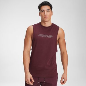 Mp Men's Outline Graphic Tank - Washed Oxblood - Xxl Mpm563oxblood Ss21 Mens Tops, Red