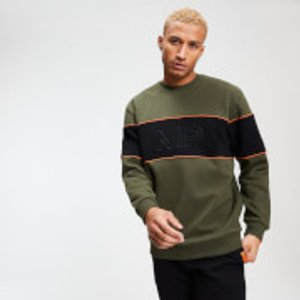 Mp Men's Rest Day Stripe Sweatshirt - Army Green - Xs Mpm384armygreen Mens Sportswear, Green
