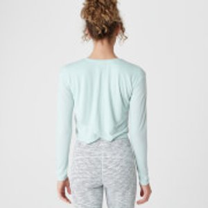 Mp Spring Long-sleeve T-shirt - Blue - S Mpw197duckegg Mens Tops, Blue