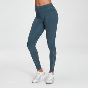 Mp Women's Branded Training Leggings - Deep Sea Blue - Xxs Mpw608deepseabl Ss21 Mens Sportswear, Blue