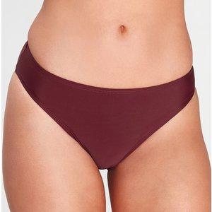 Mp Women's Essentials Bikini Bottoms- Washed Oxblood - S Mpw495washedoxblood Womens Swimwear, Red