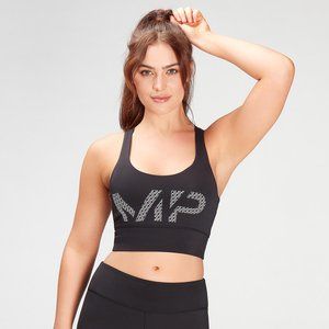 Mp Women's Essentials Printed Training Bra - Black - Xxl Mpw589black Mens Sportswear, Black