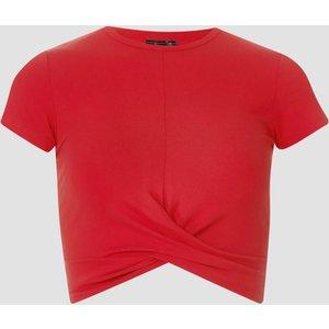Mp Women's Power Short Sleeve Crop Top - Danger - S Mpw274danger Mens Sportswear, Red
