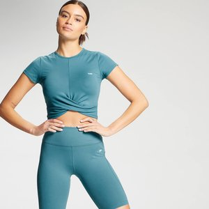 Mp Women's Power Short Sleeve Crop Top - Ocean Blue - Xs Mpw274oceanblue Mens Tops, Blue