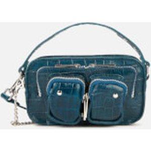 Núnoo Women's Helena Croco Cross Body Bag - Navy 75443504 Womens Accessories, Blue