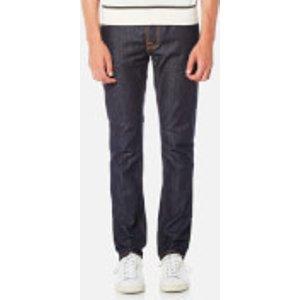 Nudie Jeans Men's Grim Tim Slim Jeans - Dry Open Navy - W32/l34 112223 Mens Trousers, Blue