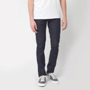 Nudie Jeans Men's Grim Tim Slim Jeans - Dry Open Navy - W34/l32 113111 Mens Trousers, Blue