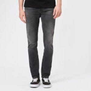 Nudie Jeans Men's Lean Dean Straight Jeans - Mono Grey - W30/l34 - Grey 112778 Mens Trousers, Grey