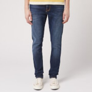 Nudie Jeans Men's Lean Dean Tapered Jeans - Dark Deep Worn - W36/l32 - Blue 113032 Mens Trousers, Blue