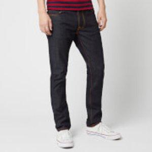 Nudie Jeans Men's Lean Dean Tapered Jeans - Dry 16 Dips - W34/l30 111946 Mens Trousers, Blue