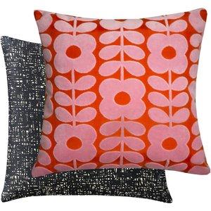 Orla Kiely Flower Stem Velvet Cushion - Pink 5021253140935 Home Textiles, Pink
