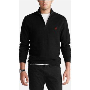 Polo Ralph Lauren Men's Cotton Mesh Quarter-zip Jumper - Polo Black - L 710701611004 Mens Tops, Black