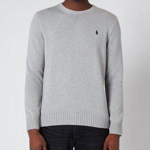 Polo Ralph Lauren Men's Crewneck Sweatshirt - Andover Heather - L 710810846004 Mens Tops, Grey