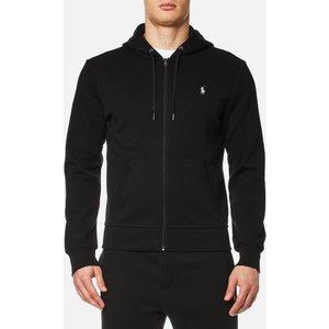 Polo Ralph Lauren Men's Double Knit Full Zip Hoodie - Polo Black - M 710652313001 Mens Tops, Black