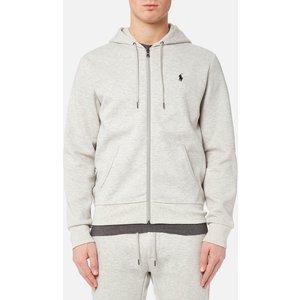Polo Ralph Lauren Men's Double Knit Full Zip Hoodie - Sport Heather - Xxl 710652313023 Mens Tops, Grey