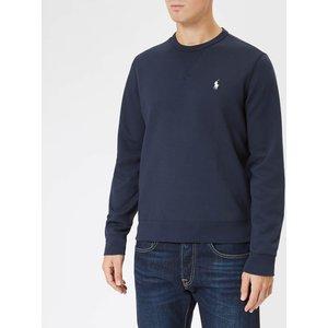 Polo Ralph Lauren Men's Double Knit Sweatshirt - Aviator Navy - S 710675313017 Mens Tops, Blue