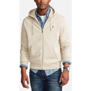 Polo Ralph Lauren Men's Double Knitted Full Zip Hoodie - Expedition Dune - L 710652313050 General Clothing, Grey