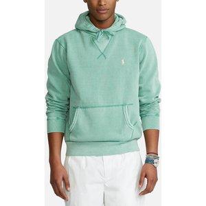 Polo Ralph Lauren Men's Garment Dyed Seasonal Fleece Hoodie - Haven Green - S 710793020009 Mens Tops, Green