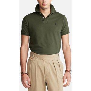 Polo Ralph Lauren Men's Mesh Knit Slim Fit Polo Shirt - Company Olive - M 710536856283 Mens Tops, Green